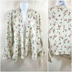 Tempted Los Angeles Floral Bell Sleeve Kimono Top